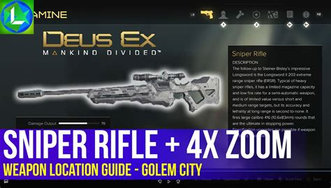 Deus Ex Silenced Sniper Rifle Location