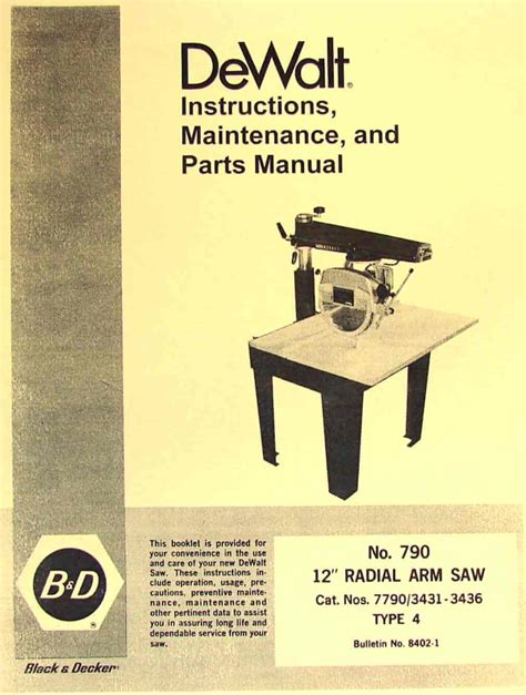 dewalt 12 inch table saw pdf manual