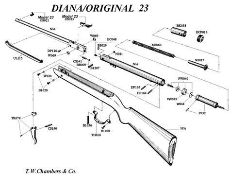 Diana Model 23 Air Rifle Parts