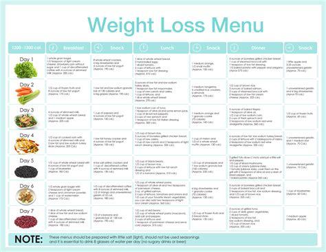 diet planner to lose weight