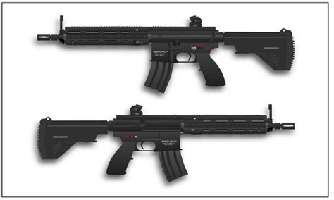 Difference Between Hk416
