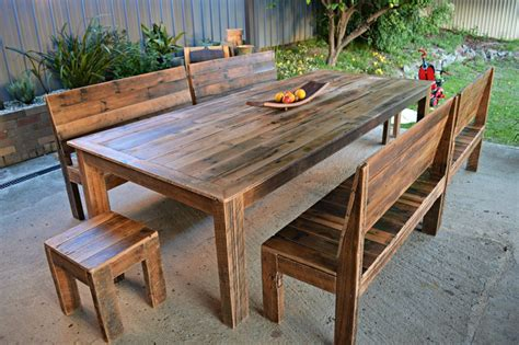 Dining table bench seat plans Image