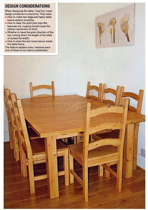 Dining table chair plans Image