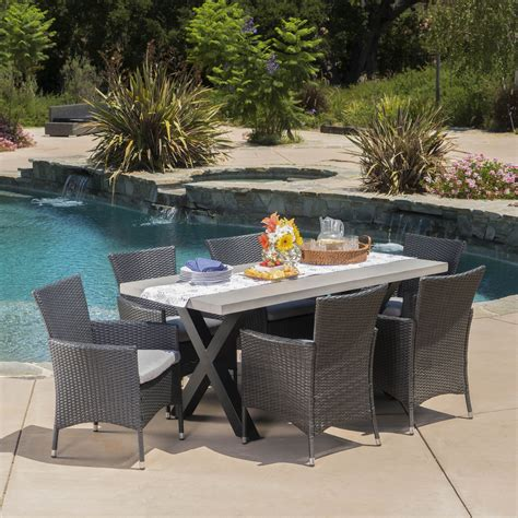 Dining table outdoor furniture Image