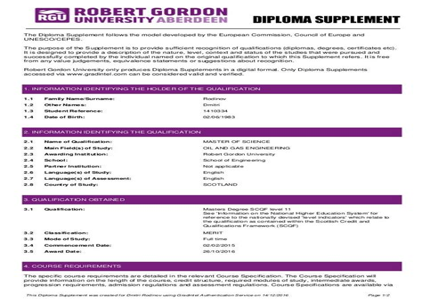 Europass Cv Update Online Diploma Supplement European Commission
