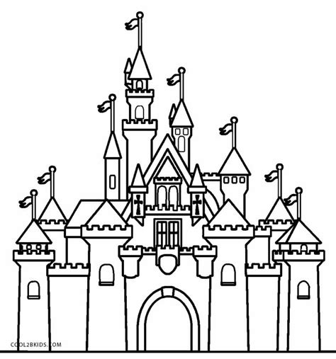 Disney Schloss Malvorlage