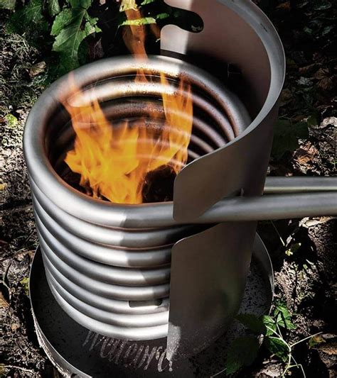 diy wood stove water heater.aspx Image