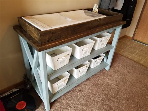 Diy baby changing table Image