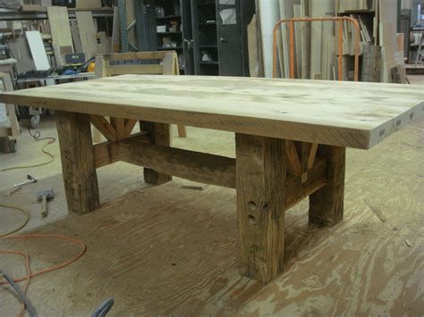 Diy barn wood dining table Image