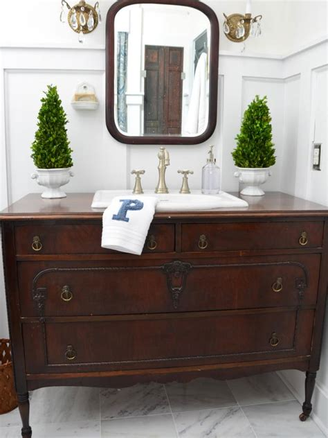 Diy bathroom vanity from dresser Image