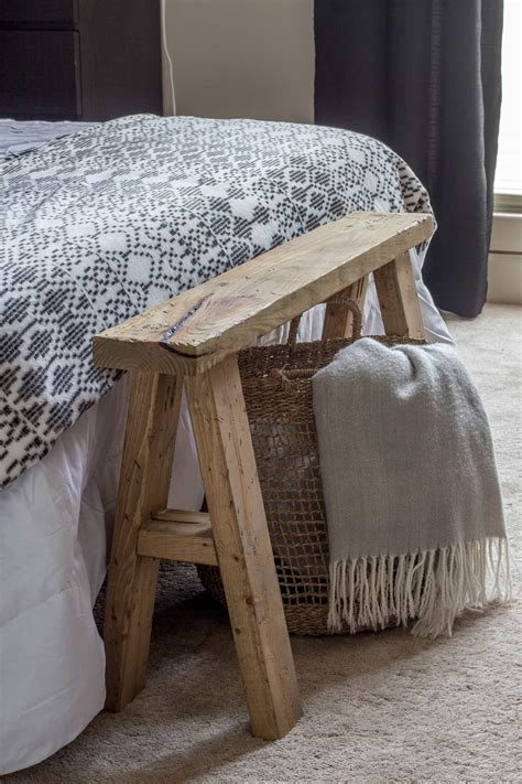 Diy bench at end of bed Image