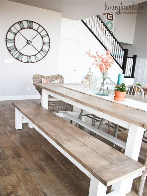 Diy bench dining table Image