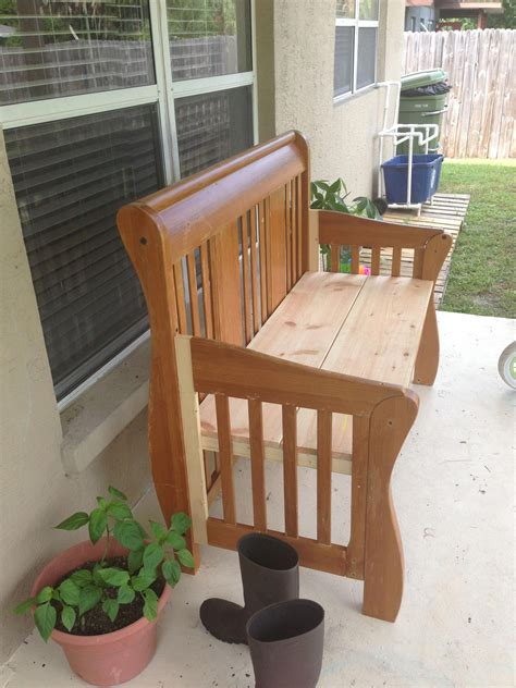Diy bench from a crib Image