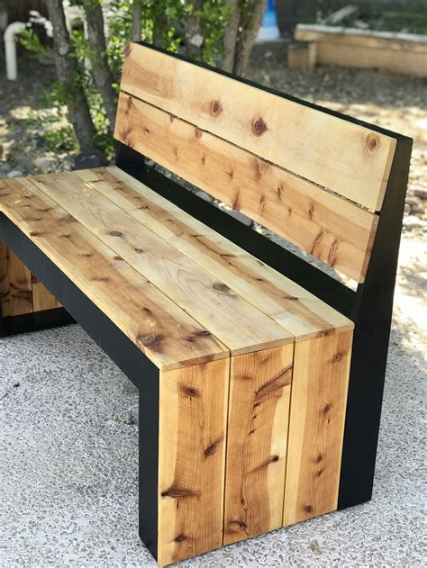 Diy bench with back Image