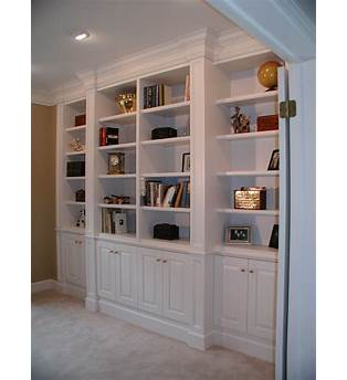 Diy Built In Bookshelves With Cabinet Below Plans