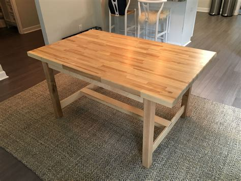 Diy butcher block dining table Image