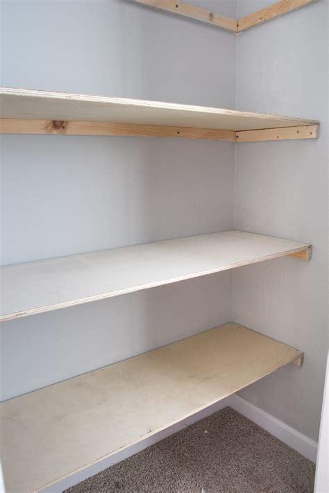 Diy closet shelves Image