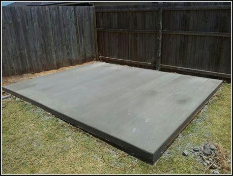 Diy concrete slab for shed Image