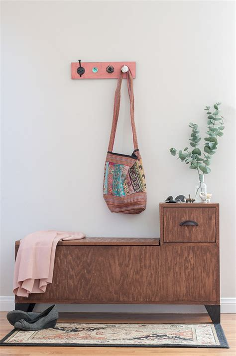 Diy entryway bench plans Image