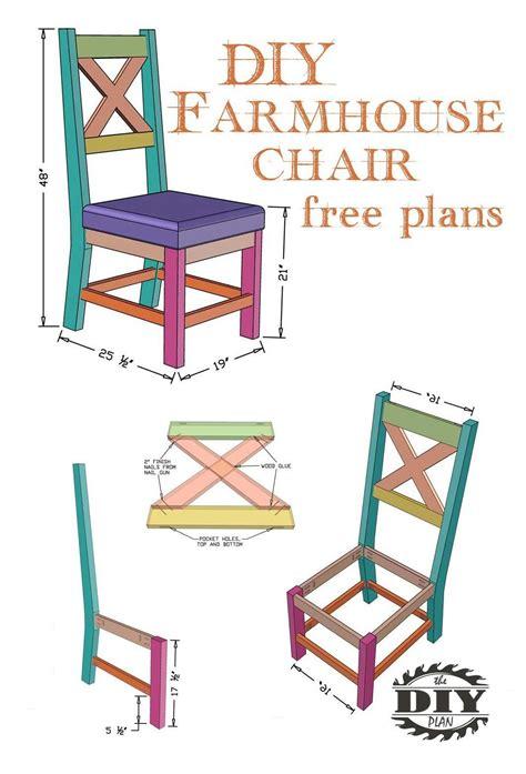 Diy farmhouse dining chair plans Image