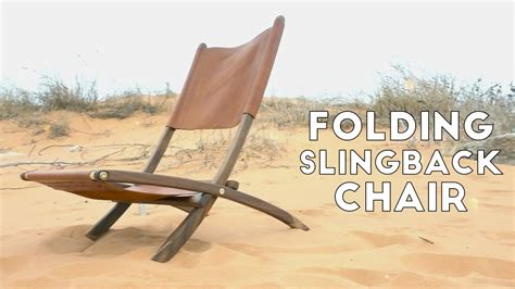 Diy folding wood and leather slingback chair modern builds ep 57 Image