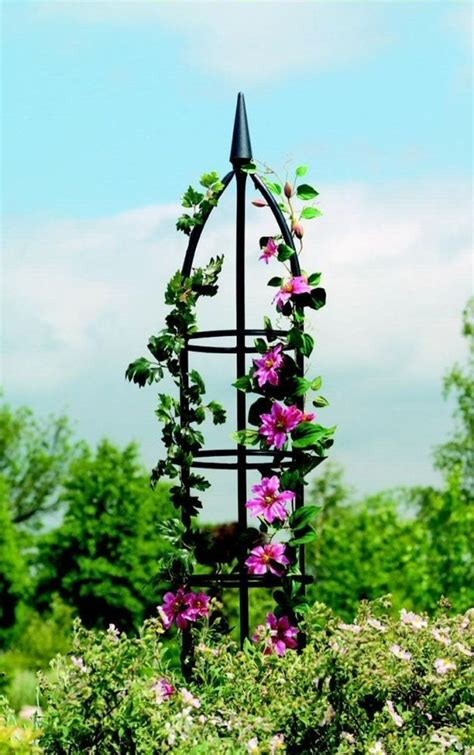 Diy garden obelisks for climbing Image