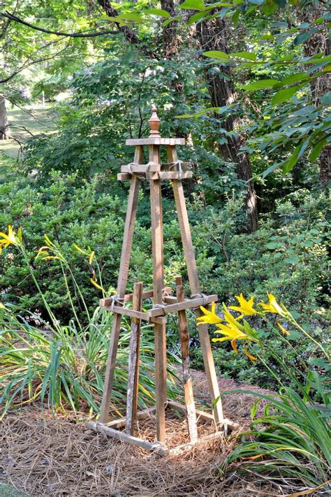 Diy garden obelisks images Image