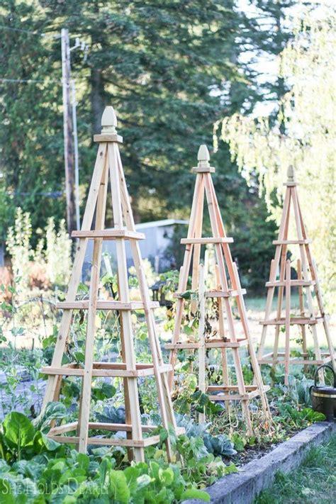 Diy garden obelisks pyramids Image