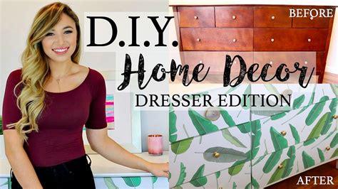 Diy home decor how to redo a dresser with wallpaper alexandra beuter Image