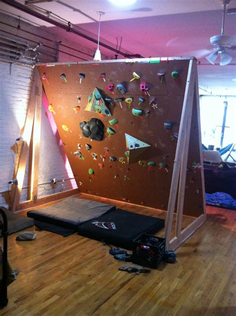 Diy indoor climbing wall Image