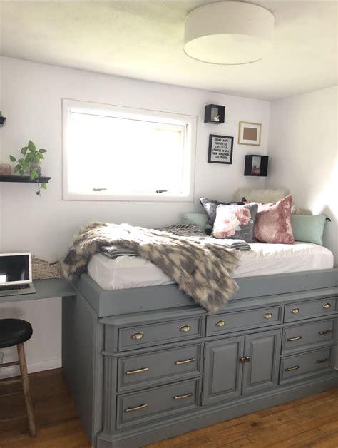 Diy loft bed with dresser Image