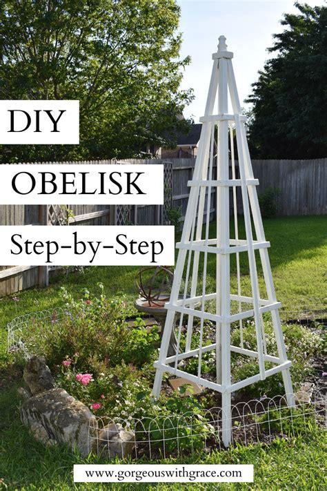 Diy obelisk trellis Image