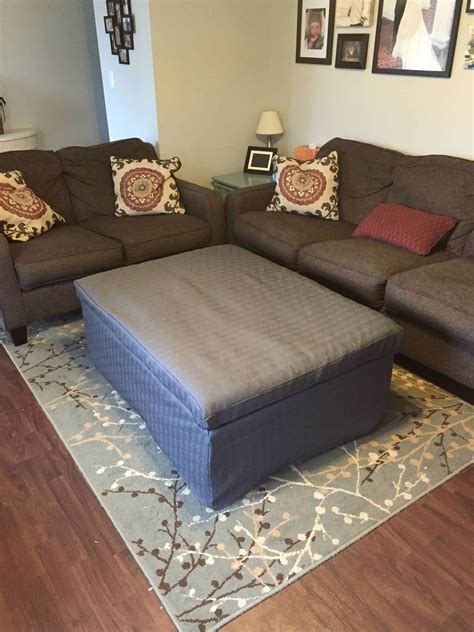 Diy ottoman with storage Image