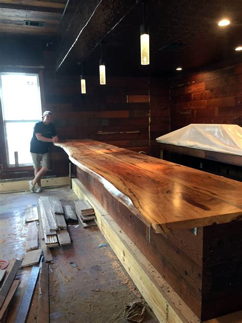 Diy Plank Wood Bar Top Image