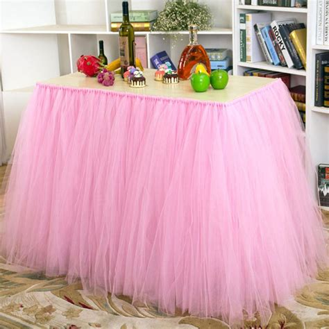 Diy tulle tutu table skirt Image