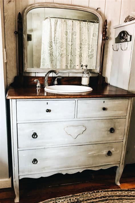 Diy turn dresser into bathroom vanity Image