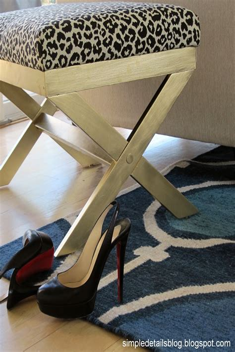 Diy upholstered x bench Image