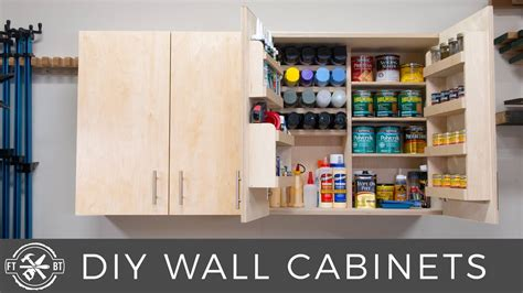 Diy wall cabinets with 5 storage options shop organization Image