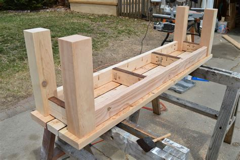 Diy wood bench plans Image