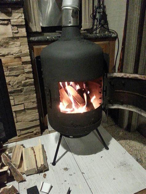 Diy wood burning stove Image