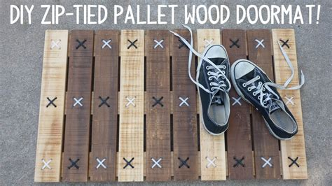 Diy zip tie pallet wood doormat Image