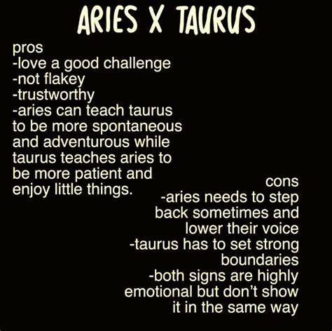 Taurus-Question Do Aries And Taurus Get Along.