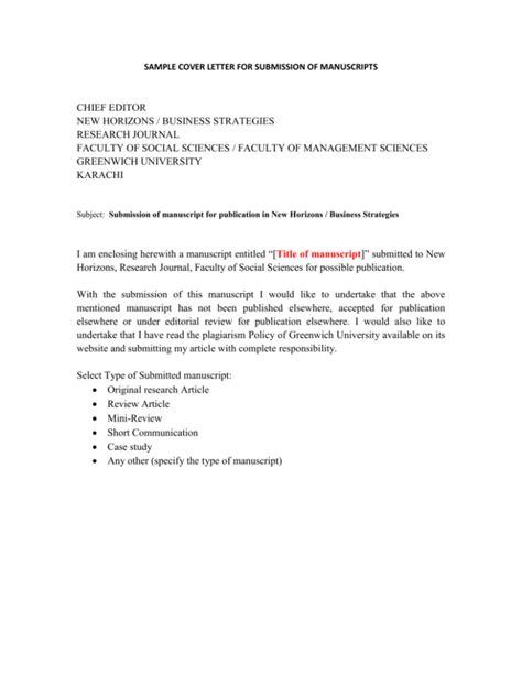 Document Submission Letter Sample | Cover Letter Sample For ...