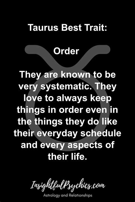 Taurus-Question Does Taurus Like Their Routines.