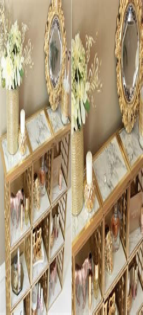 Dollar tree marble and gold organizer diy Image