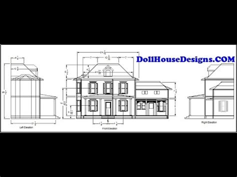 Dollhousedesignscom build your own dollhouse using our plans ariella miniature blueprints pdf Image