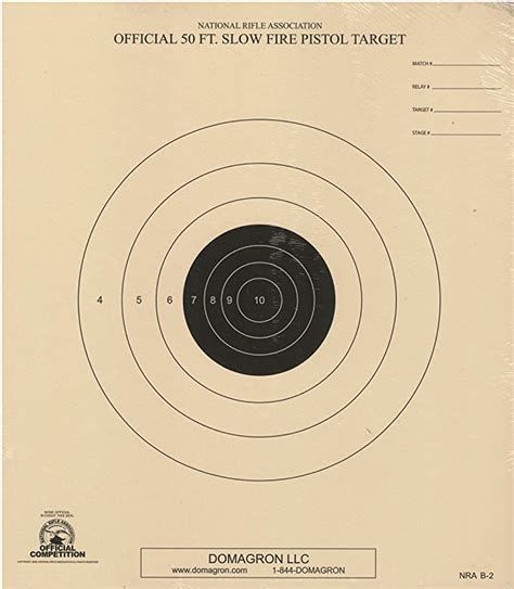 DOMAGRON 50 Foot Slow Fire Pistol Target Official NRA