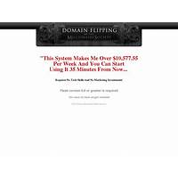 Domain flipping by the millionaire society promo
