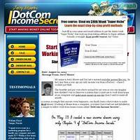 Guide to dotcom income secrets work from home riches