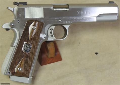 Double Barrel 45 Caliber Handgun